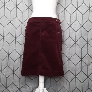 Talbots Corduroy Maroon Pencil Skirt
